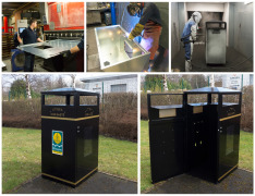 Hundreds of wheelie bin housings delivered to Glasgow